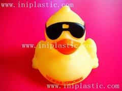 戴眼鏡的鴨墨鏡子太陽眼鏡鴨子搪膠浮水鴨子