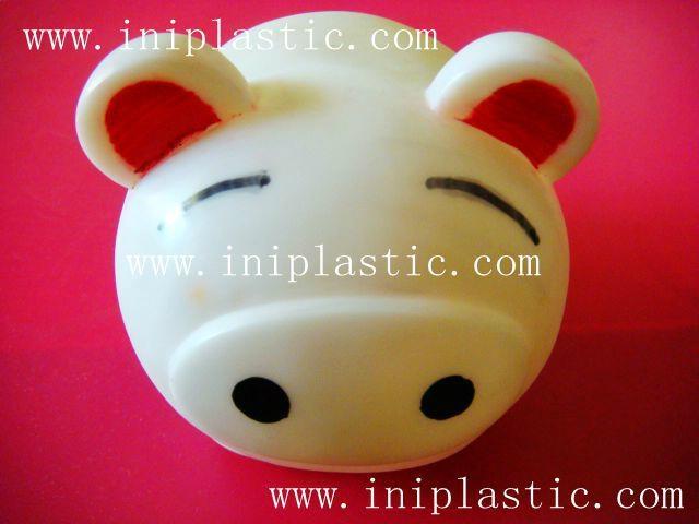 豬仔錢罐|小豬錢罐|儲錢罐|儲蓄罐|小豬錢筒|黑白豬錢缸 12