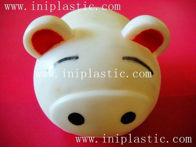 豬仔錢罐|小豬錢罐|儲錢罐|儲蓄罐|小豬錢筒|黑白豬錢缸 16