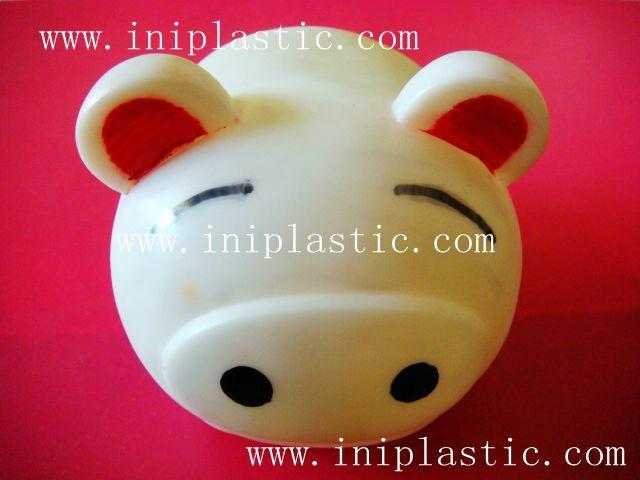 豬仔錢罐|小豬錢罐|儲錢罐|儲蓄罐|小豬錢筒|黑白豬錢缸 17