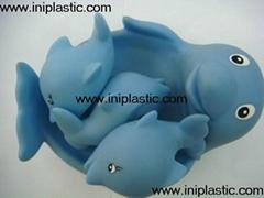 搪胶海豚|子母海豚|母亲小海豚|玩具海豚