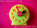 we have clocks in various sizes. This one is a smaller one, its diameter is 3inches, it is an on-hand toy, it can be put into your pocket, we called it pocket clock