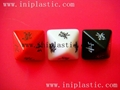 translucent dice blace dice clear dice plastic cubes