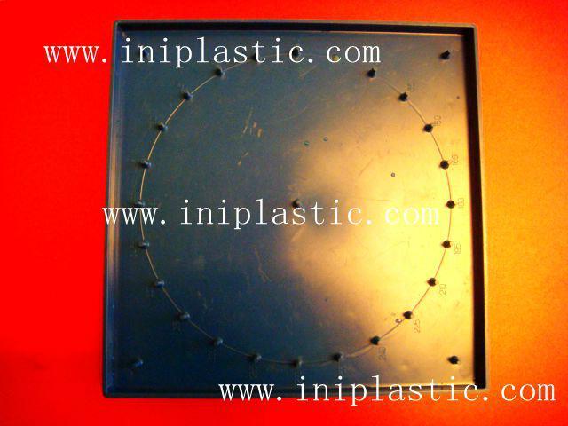 121個釘子板 塑料幾何釘板 釘子板 數形板 過頭釘板 8