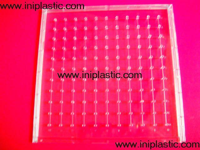 121個釘子板 塑料幾何釘板 釘子板 數形板 過頭釘板 10