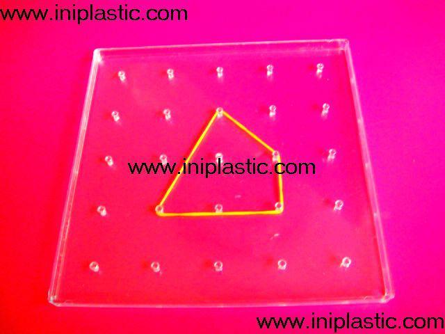 121个钉子板|塑料几何钉板|钉子板|数形板|过头钉板 12