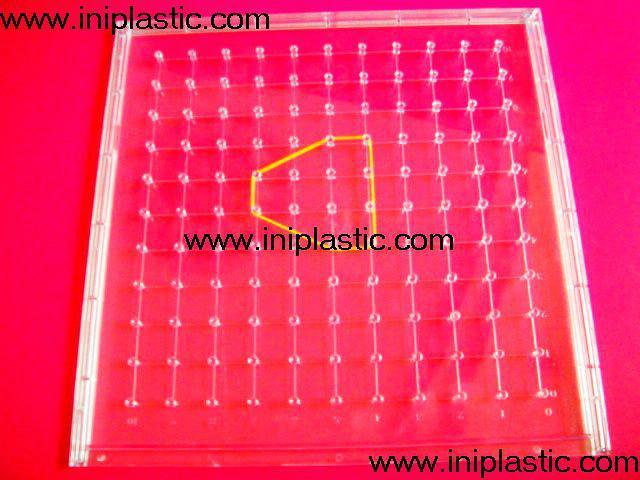 121个钉子板|塑料几何钉板|钉子板|数形板|过头钉板 18
