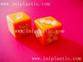 plastic polyhedra dice 10 facet dice 12 face dice 20-face dice 30-facet dice