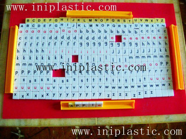 英文拼字游戏 英文字母拼块 英文塑料片 英文字母片 16