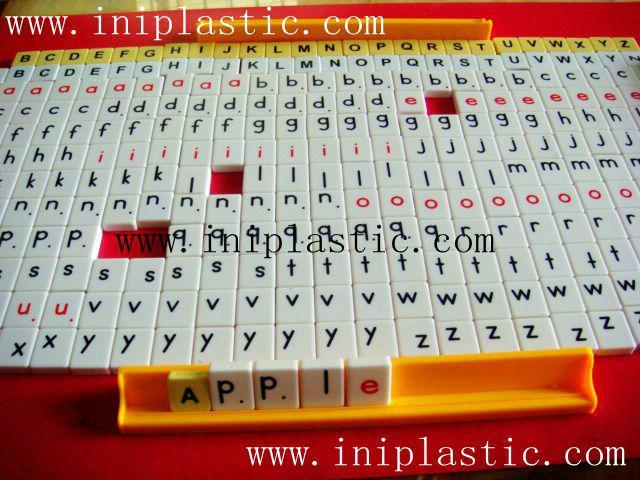 英文拼字游戏 英文字母拼块 英文塑料片 英文字母片 18