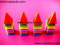plastic stacking mini house overlapped
