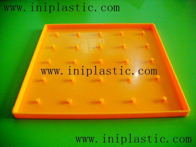 帶橡皮觔的幾何釘板|塑膠模具|塑料模具|塑膠工模 11