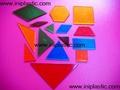 幾何圖形片|雙色數數片|數學片|益智玩具小學教具 18