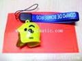 鑰匙扣帶吊飾是l塑料籌碼鑰匙扣兩面印刷logo 8