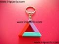 鑰匙扣帶吊飾是l塑料籌碼鑰匙扣兩面印刷logo 2