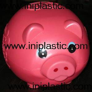 搪胶黑猪储钱罐搪胶白猪储钱罐黑白双猪储钱罐猪仔钱罐 7