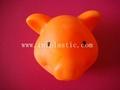 搪胶黑猪储钱罐搪胶白猪储钱罐黑白双猪储钱罐猪仔钱罐 8