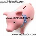 搪胶黑猪储钱罐搪胶白猪储钱罐黑白双猪储钱罐猪仔钱罐 14