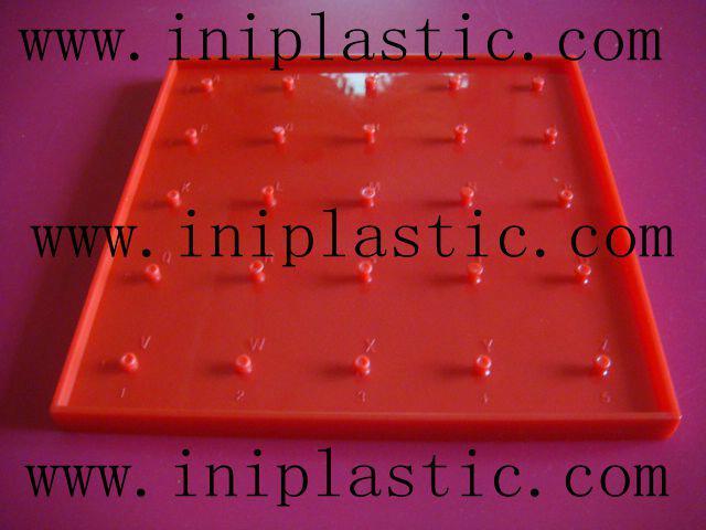 帶橡皮觔的幾何釘板|塑膠模具|塑料模具|塑膠工模 5