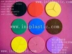 彩虹分數圓|彩虹分數磚|塑膠披薩