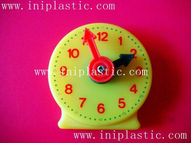 learning clock study clock plastic clock geared clock