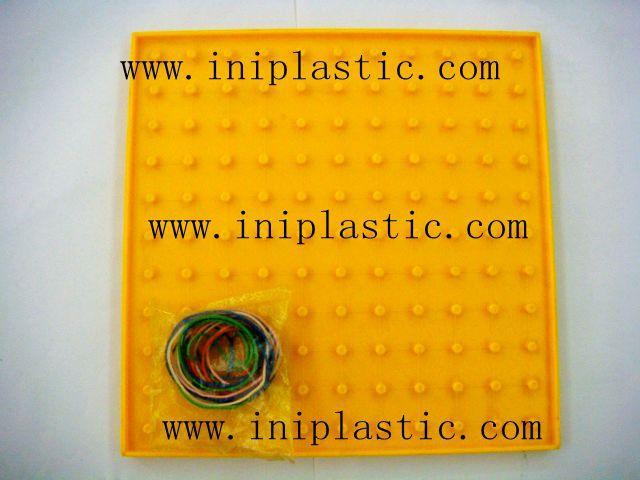 121個釘子板 塑料幾何釘板 釘子板 數形板 過頭釘板 1