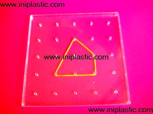 透明幾何釘子板 1