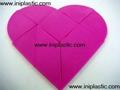 心形积木|心形拼块|几何模型体|木形状|木形体