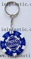 鑰匙扣帶吊飾是l塑料籌碼鑰匙扣