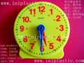 learning clock study clock plastic clock geared clock