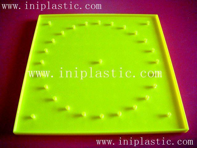 121個釘子板 塑料幾何釘板 釘子板 數形板 過頭釘板 20