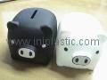 豬仔錢罐|小豬錢罐|儲錢罐|儲蓄罐|小豬錢筒|黑白豬錢缸 4