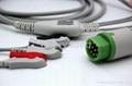 Siemens 3 lead one-piece ECG cable clip end