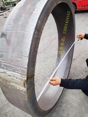 304不锈钢卷筒钢板下料卷圆焊接