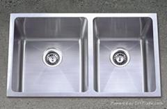 Hand made kitchen stainless steel sink