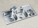 with garbage bin stainless steel kitchen sink
