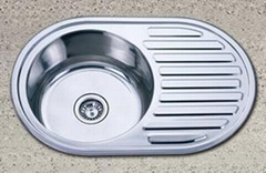 Round Single Bowl with Drainboard Sink
