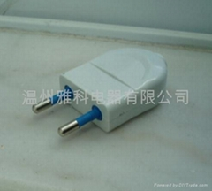 插头,两极电源插头(0870)