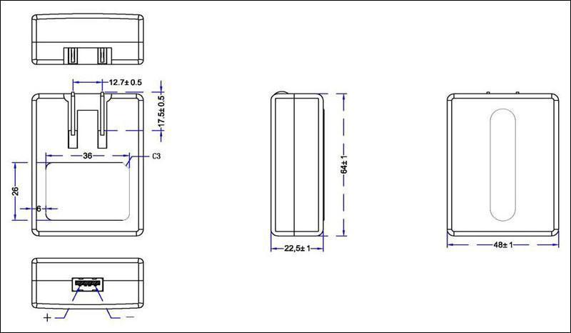 销售5V1A USB锂电池充电器  2