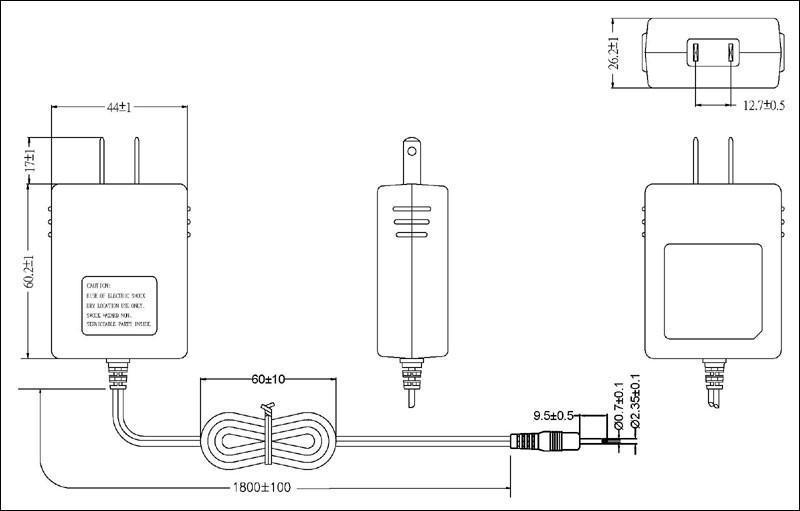 銷售12W美規開關電源適配器  2