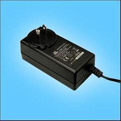 24W美式插頭開關電源適配器