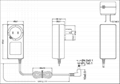 24W美式插头开关电源适配器 2