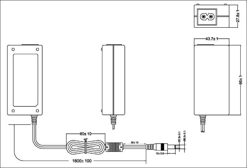 24W桌面式开关电源适配器 2
