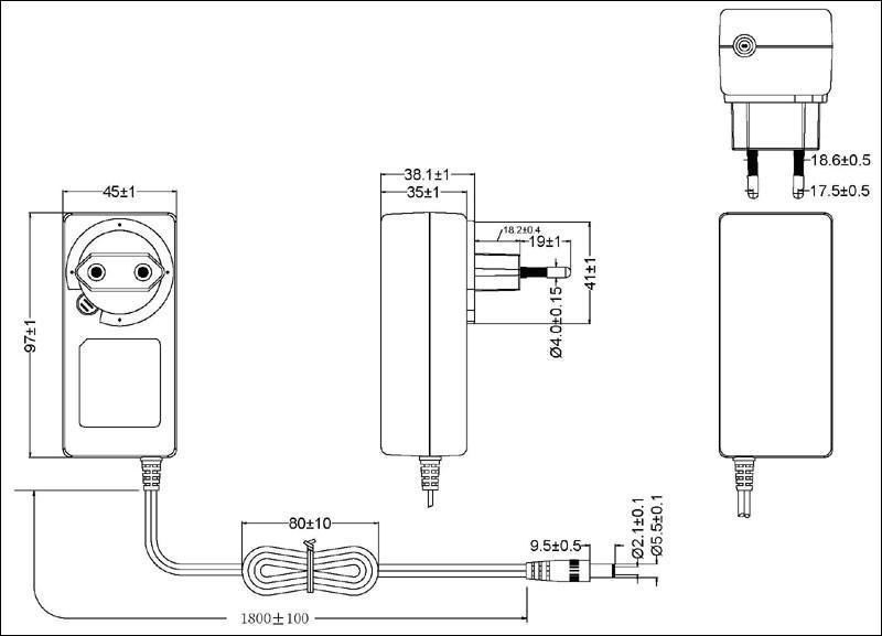 36W EU Wall mount Switching AC/DC Adapters  2