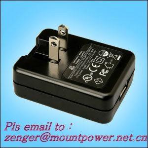销售美规USB 5V0.5A电池充电器&适配器 1