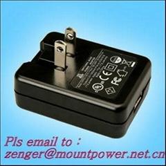 销售美规USB 5V0.5A电池充电器&适配器