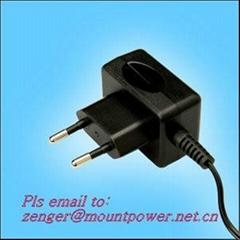 工廠銷售5V0.5A歐規充電器