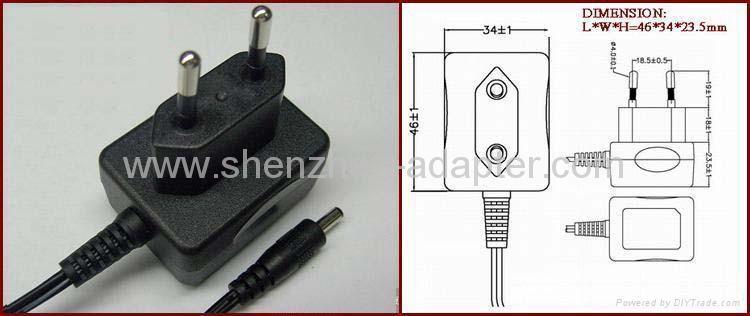 工厂销售5V0.5A欧规充电器 4