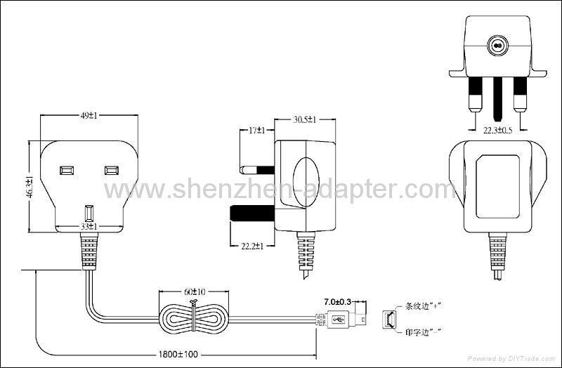Sell 5V0.5A England ac adaptor 2