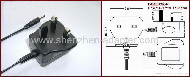 Sell 5V0.5A England ac adaptor 4